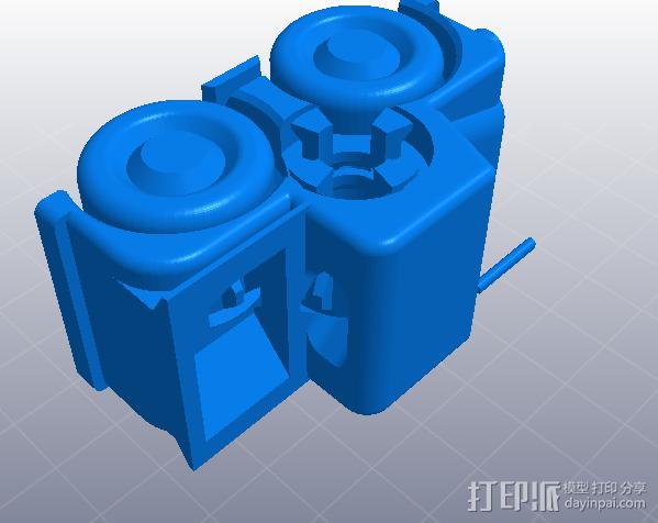 橡皮筋动力车 3D模型  图2