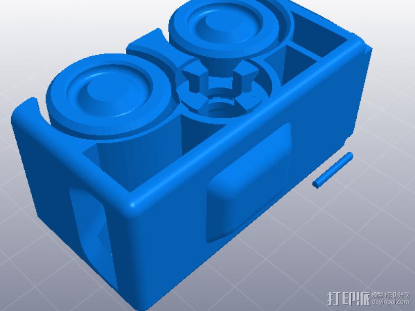 橡皮筋动力车 3D模型  图1
