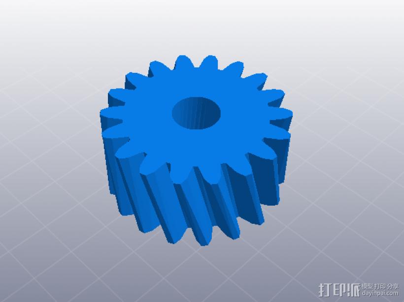 四速变速与H移位变速箱 3D模型  图4