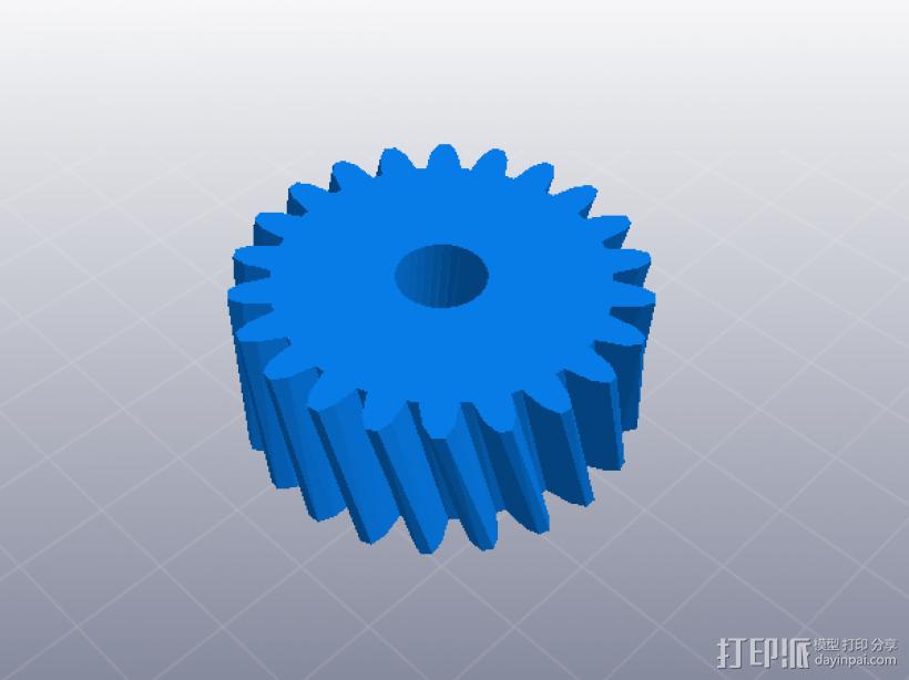 四速变速与H移位变速箱 3D模型  图6