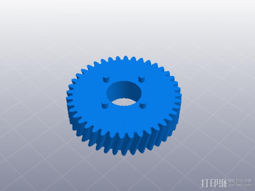 四速变速与H移位变速箱 3D模型  图3