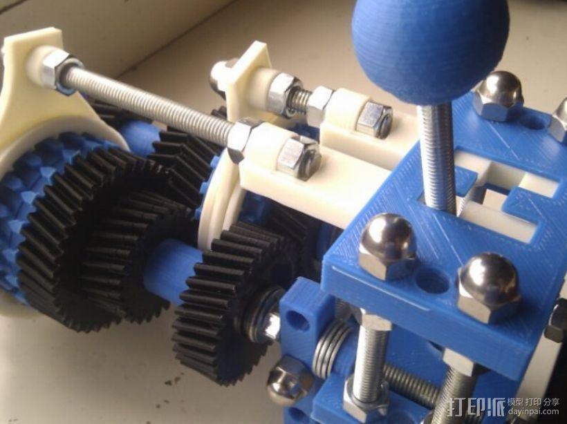 四速变速与H移位变速箱 3D模型  图21