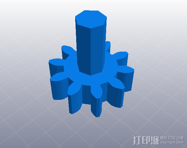 简单行星齿轮 3D模型  图5