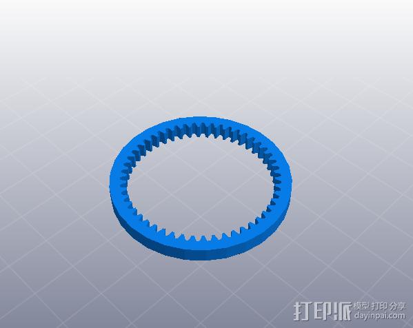 简单行星齿轮 3D模型  图2