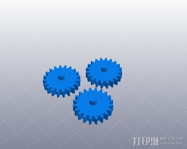 简单行星齿轮 3D模型  图4