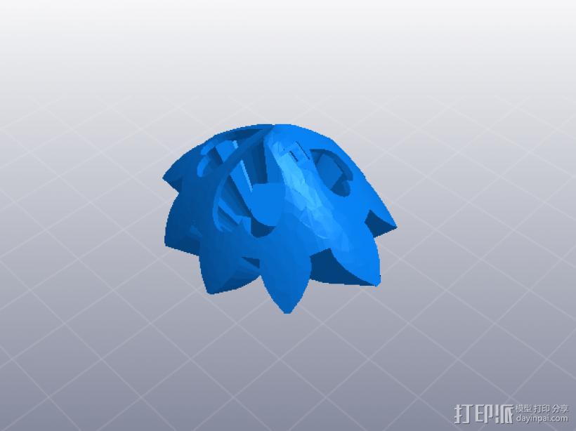 齿轮心 3D模型  图1
