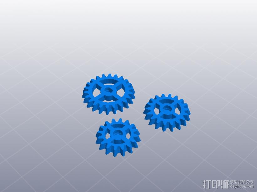 齿轮组合玩具大集合 3D模型  图13