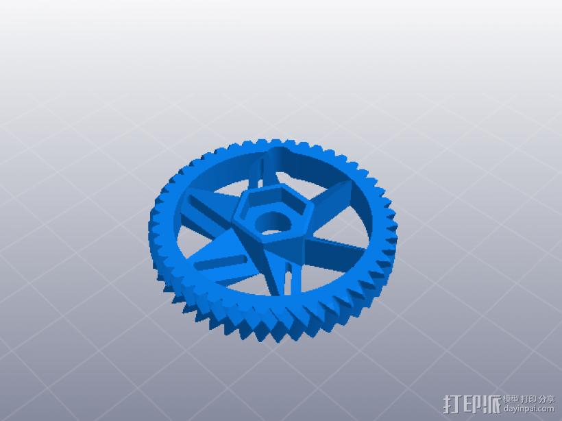 大齿轮挤出机 3D模型  图2
