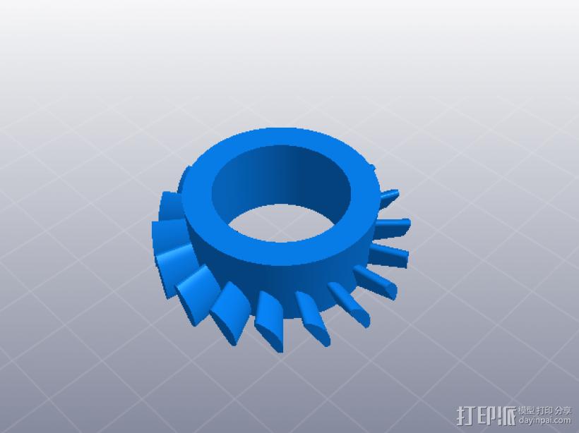 喷气发动机 3D模型  图4