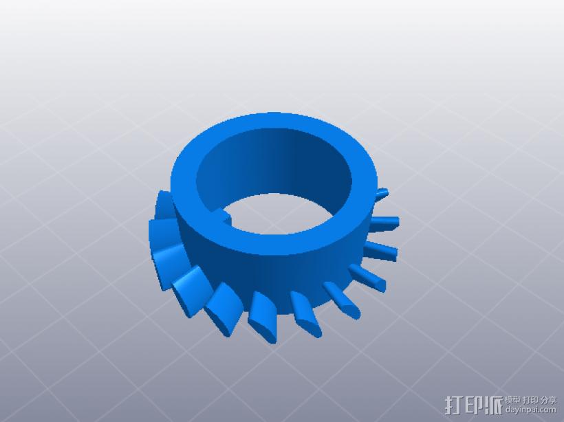 喷气发动机 3D模型  图5