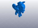戴帽子的小马驹 3D模型 图1