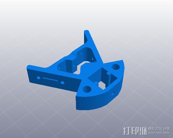 k800金属挤出框架下支架 3D模型  图1
