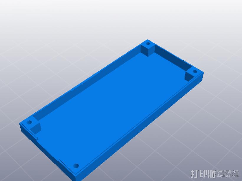 LCD人机模块壳 3D模型  图1