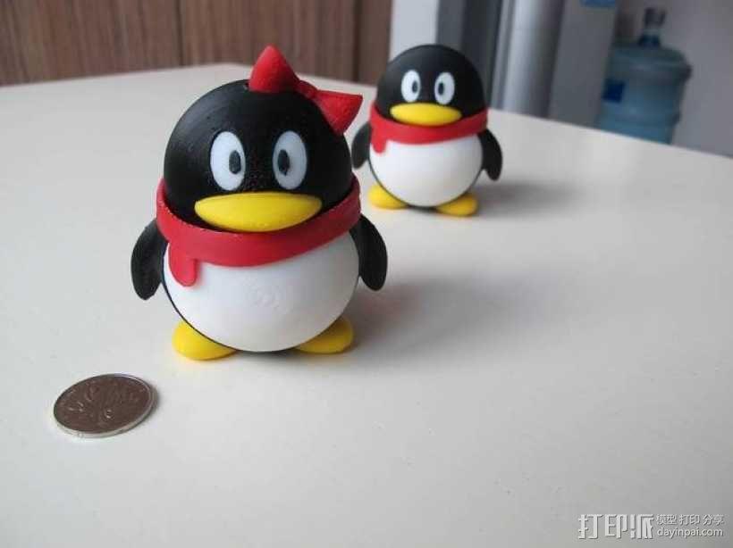 QQ企鹅公仔 3D模型  图1