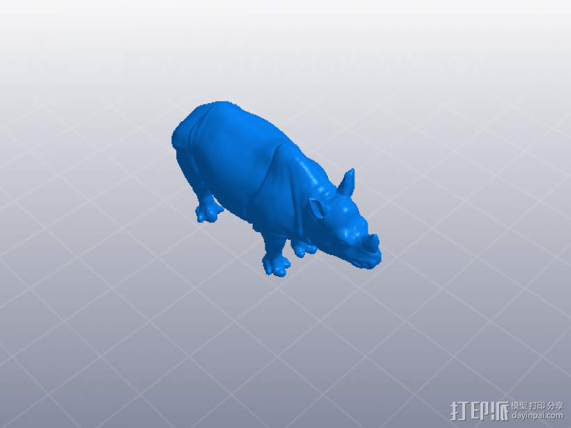 犀牛 3D模型  图1