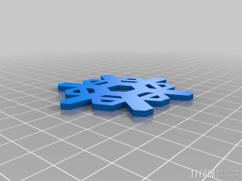 3D打印DLY雪花风铃 3D模型  图2
