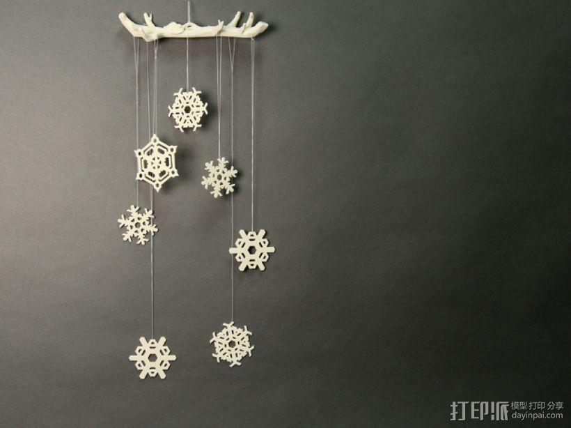 3D打印DLY雪花风铃 3D模型  图3