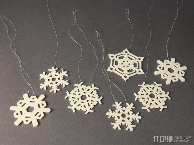 3D打印DLY雪花风铃 3D模型  图4