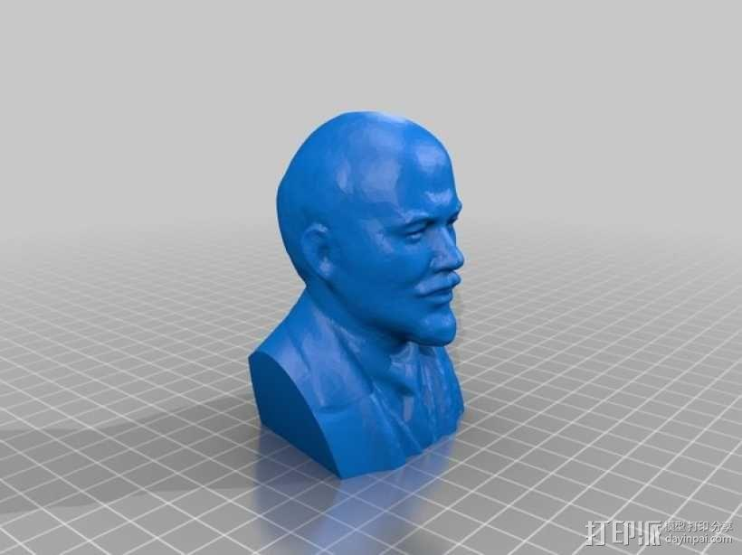列宁头像 3D模型  图1