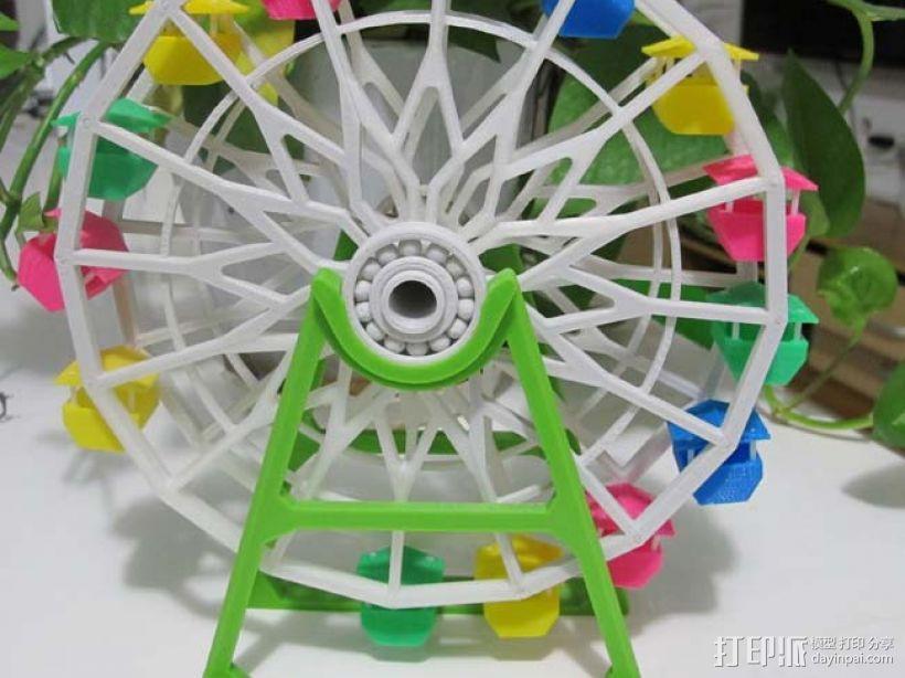 3d打印 摩天轮 大风车模型 3D模型  图1
