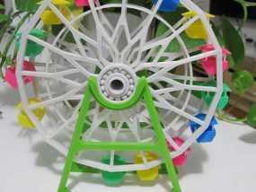 3d打印 摩天轮 大风车模型 3D模型