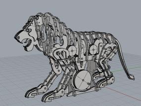 机械狮子 3D模型