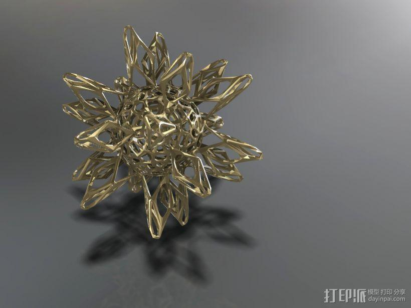 工艺品   镂空球体 3D模型  图1