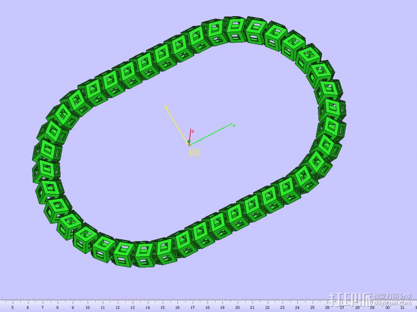 立体镂空项链 3D模型  图1