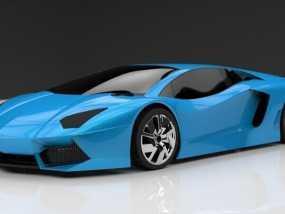 超炫跑车 3D模型