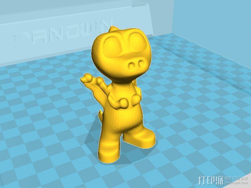 可爱小恐龙萌萌哒——磐纹模型 3D模型  图2