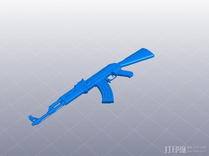 AK47 3D模型  图1