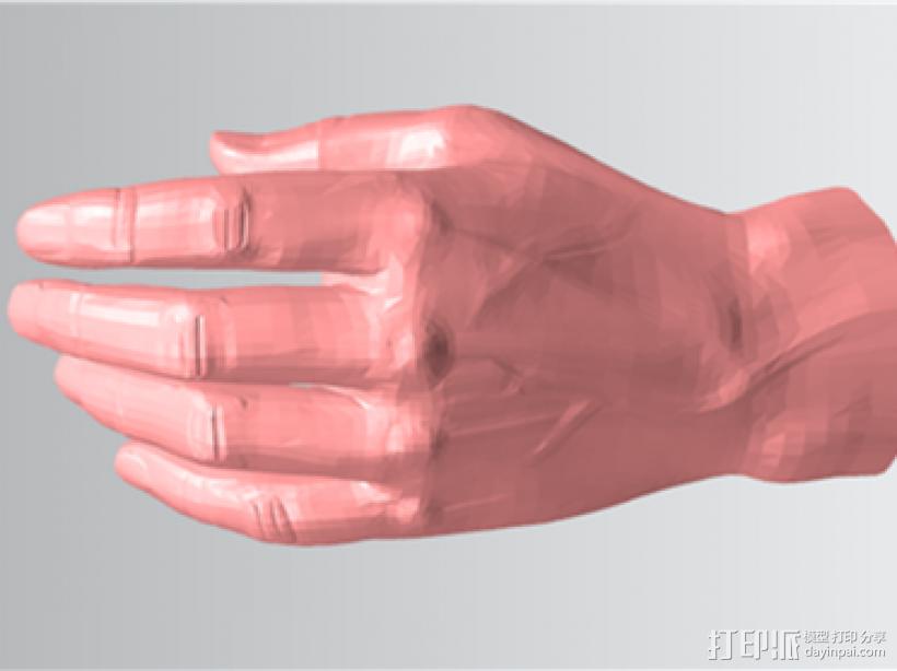仿真手 3D模型  图1