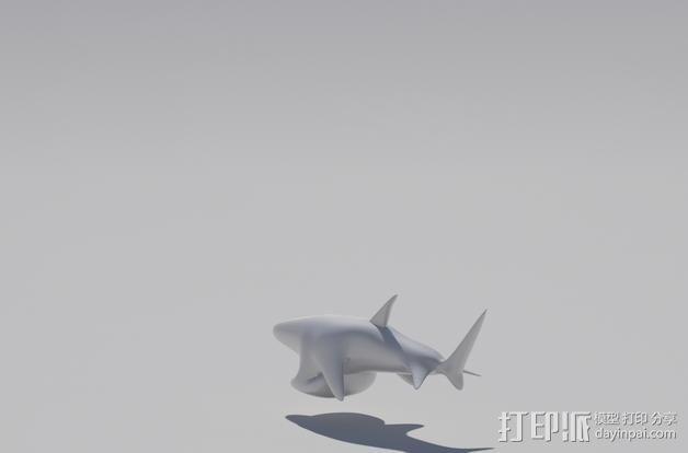 鲨鱼开瓶器 3D模型  图1
