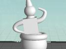 球形不倒翁玩偶 3D模型 图1