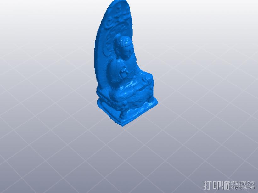 观音像 3D模型  图1
