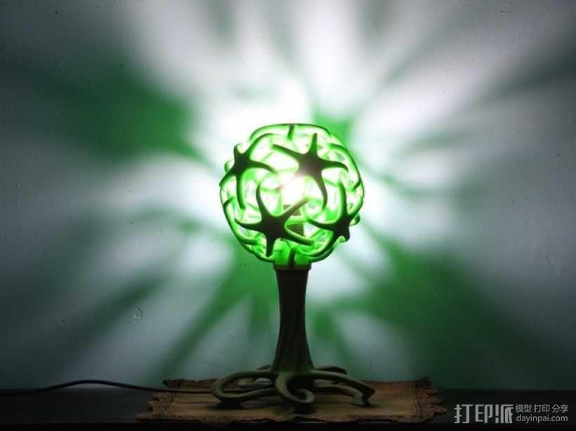 绿色台灯 3D打印制作  图5