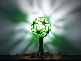 绿色台灯 3D打印制作