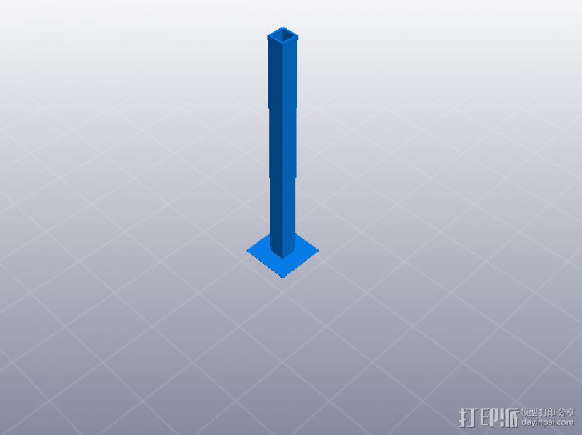 3D打印机性能测试 Z轴机械谐振测试 3D模型  图1