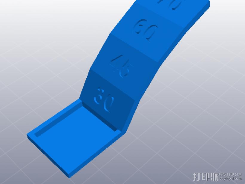 3D打印机性能测试 悬垂表现测试 3D模型  图1