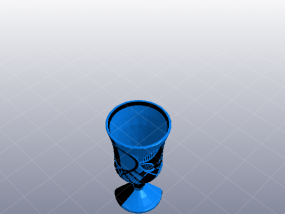精致的高脚酒杯 3D模型