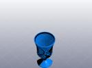 精致的高脚酒杯 3D模型 图1