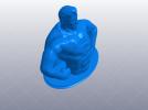 超人 上半身塑像 3D模型 图1