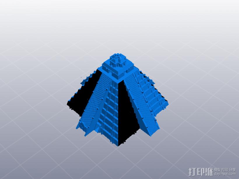 埃及玛雅金字塔 3D模型  图1