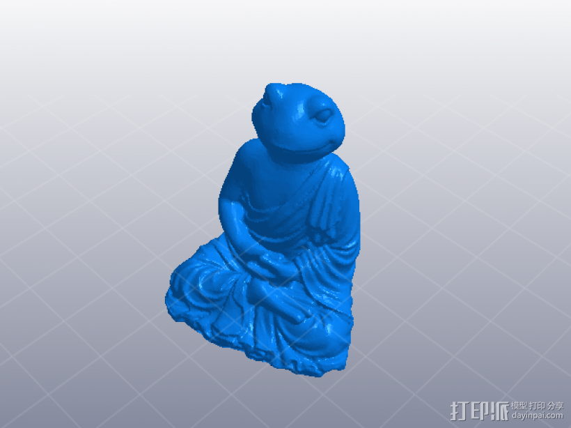 坐姿青蛙佛象 3D模型  图1