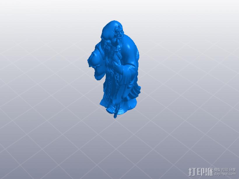 寿星  南极仙翁 3D模型  图1