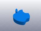 苹果公司 logo 3D模型 图1
