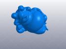 睡觉的胖青蛙 3D模型 图1