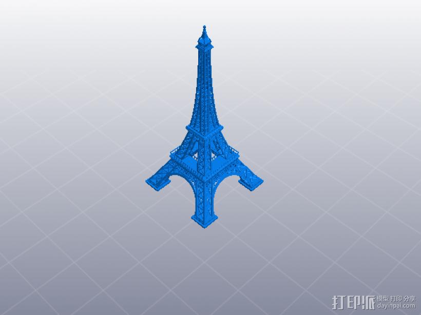 精致埃菲尔铁塔 3D模型  图1