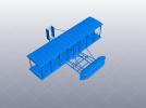 莱特兄弟的第一架飞机 3D模型 图1