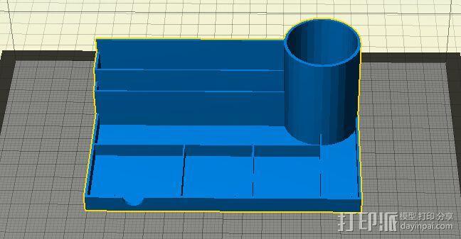 桌面组织者  3D模型  图1